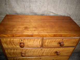 Satin Birch Chest of Drawers
