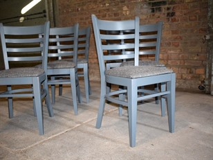 Painted Ercol Plank Table and Chairs