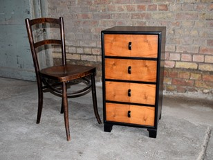 Ebonised Walnut Art Deco Drawers