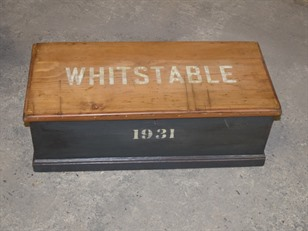 Vintage Whitstable Pine Box