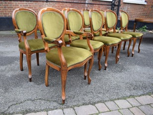 Extending Walnut Table and 10 Chairs ZX2119