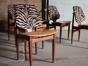 6 EON Teak Dining Chairs