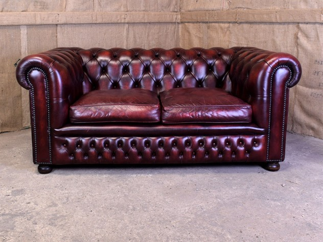 Burgundy Leather Chesterfield