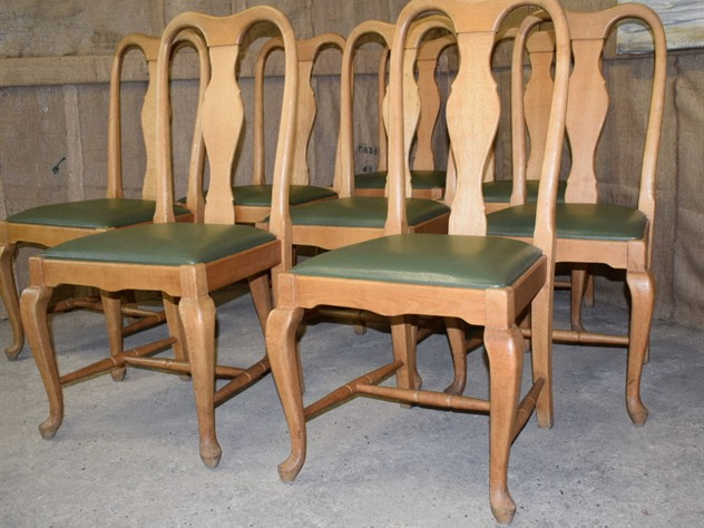 8 French Beech Chairs